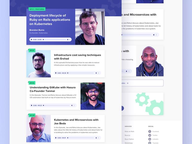 All Things Devops - Website Improvements type branding web development website podcast logo podcast dev allthingsdevops typography web app ux design ui