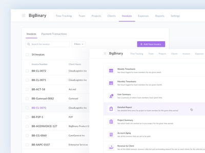 AceInvoice Navigational Improvements