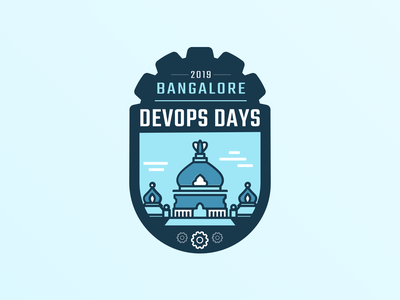 Devops Days Bangalore art identity clean lettering illustrator minimal icon vector typography logo design devopsdays india bangalore meetup devops branding logo ux design ui