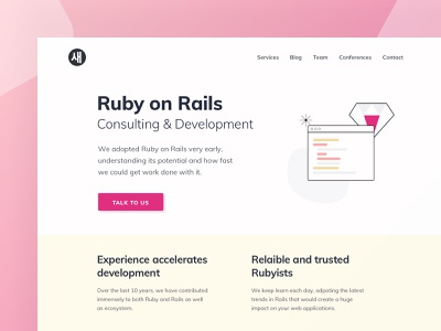 Saeloun / Ruby on Rails vlockn clean modern ruby service illustraion flat minimal typography vector web development web app ux design ui
