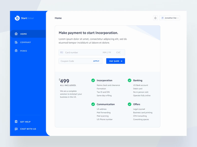 StartGlobal Dashboard Intro vlockn success account illustration dashboard credit card checkout credit card company sieve prototype motion minimal animation vector typography web app ux design ui