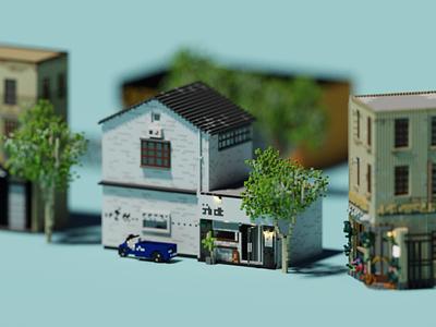 Shopfront | SEPTEM Cafe 石藤咖啡 space building architecture voxel 3d