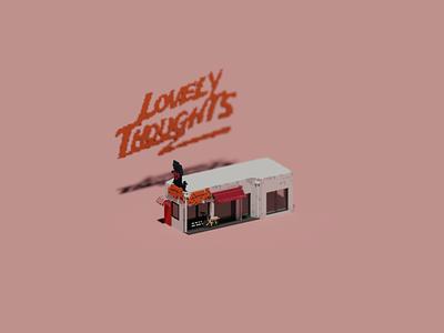 Shopfront | Lovely Thoughts Cafe 有容乃大 illustration shopfront design space building architecture voxel 3d
