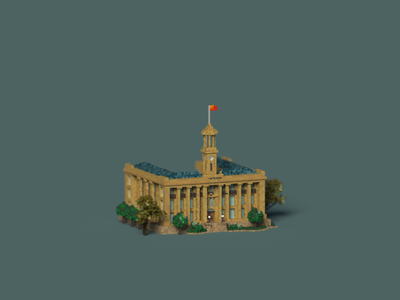 Public Building | Jianghanguan Custom House illustration pixel pixelart typography magicavoxel lowpolyart voxelart museum design space building architecture voxel 3d