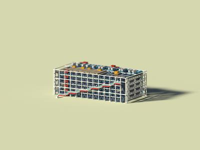 Public Building | Centre Pompidou pixelart pixel magicavoxel voxelart museum design building voxel 3d