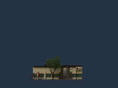 Shopfront   White Mustache pixelart pixel illustration design space architecture building 3d voxel