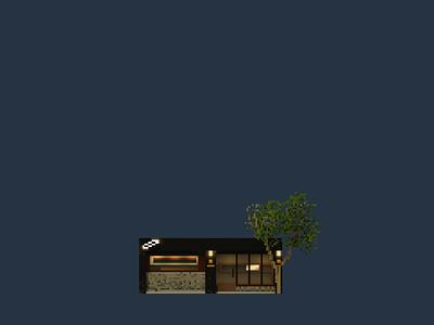 Shopfront   SHIMMER cafe pixelart voxelart pixel magicavoxel illustration design space architecture building 3d voxel
