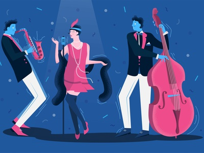 Character design vector illustration music art branding vector illustration graphic design design 2d