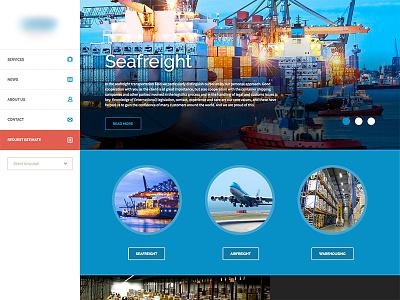 Forwaring website concept forwarding warehousing website clean flat ui design