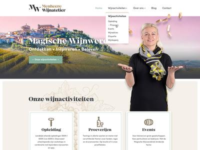 Design for wine courses website