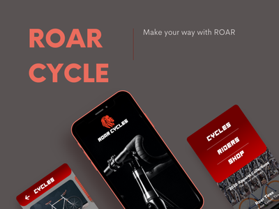 Roar Cycle Redesign product photoshop adobexd motion graphics ui logo illustration icon graphic design design branding app animation 3d