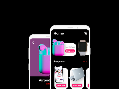 Product Ordering App ecommerce android ios apple illustration ui logo motion graphics icon graphic design design branding app animation 3d