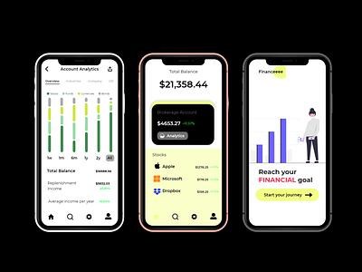Financeee ios money card idcard marketing finance motion graphics ui logo illustration icon graphic design design branding app animation 3d