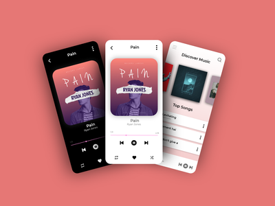 Music Player mockup iphone latest android ios music player illustration logo motion graphics ui icon graphic design design branding app animation 3d