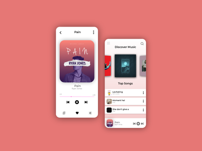 Music Player Redesigned dribbble behance video music apps android ios mockup logo motion graphics 3d ui illustration icon graphic design design branding app animation