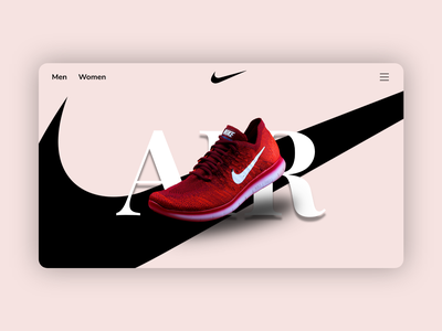 Nikee landing page ios illustration adidas sneakers nike shoe logo motion graphics ui icon graphic design design branding app animation 3d