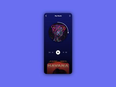 Music Player illustration ios music logo motion graphics ui icon graphic design design branding app animation 3d