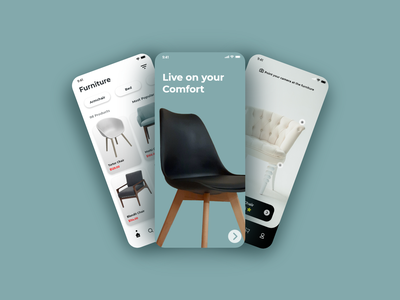 Furniture App behance apple android ios furniture illustration logo motion graphics ui icon graphic design design branding app animation 3d