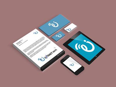 brand identity extract wifi business logo beautiful luxury vintage designer modern logo brand identity logo design ui 3d illustration logo brand style guide design corporate business flat graphic design branding