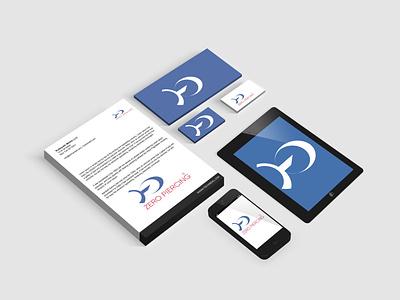 branding of corporate entity zero piercing logo flyer brand style guide design business graphic design branding