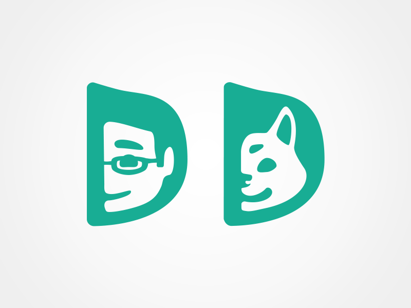 Personal Logos doge shiba dog danny daniel logo personal branding vector daniel swan