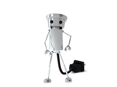 Chibi-Robo! ちびロボ! robot 3d cinema 4d modeling rigging nintendo