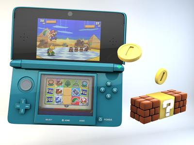 Original Nintendo 3DS Tweaks modeling cinema 4d mario 3ds nintendo