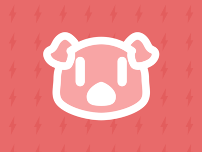 Energy Hog Logo outlet pig electricity logo