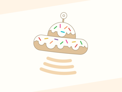 Doughnut UFO space doughnut doughnuts pastry sweets