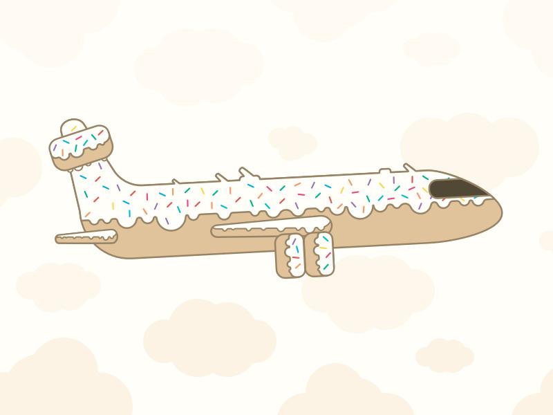 Doughnut Plane flying pastry airplane sweets doughnut