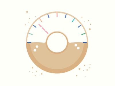 Doughnut Speedometer speed doughnut pastry