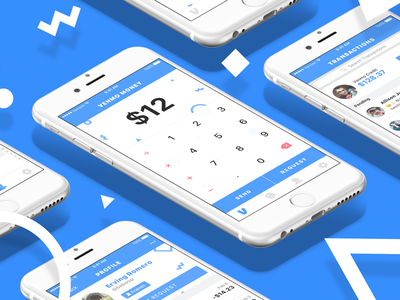 Venmo Redesign Compilation ios iphone money sketch party shapes abstract mockup input calculator payment venmo
