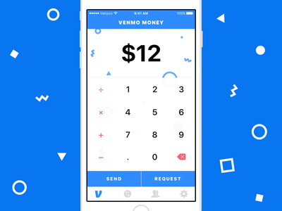 Venmo - Create Transaction ios iphone party shapes math sketch venmo payment money input calculator