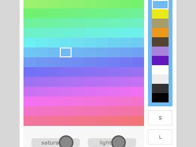 Color Picker ui html5 css javascript