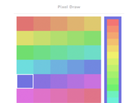 Pixel draw color picker