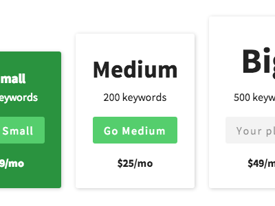 Pricing Table v2 html css inline-block ftw real pixels