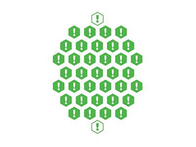 Alert Pattern green alert pattern hexagon tshirt