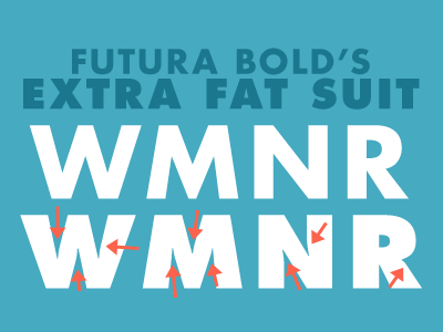 Futura Bold's Extra Fat Suit by Dave Rau | Dribbble | Dribbble