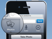 textPlus Chat View Attachements