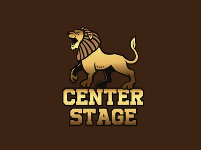 Center Stage icon illustration design vector typography logo graphic design branding