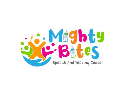 Mighty Bites illustration design icon vector typography logo graphic design branding
