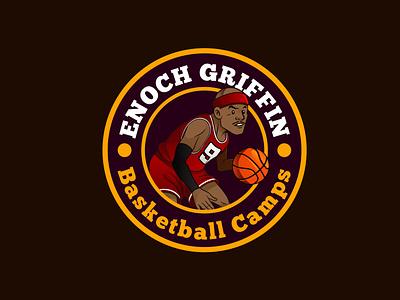ENOCH GRIFFIN icon illustration vector typography logo graphic design branding