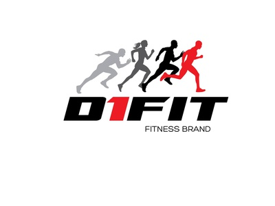 D1FIT icon vector illustration design typography logo graphic design branding