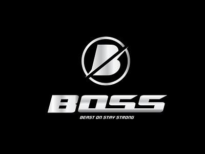 BOSS vector illustration icon design typography logo graphic design branding