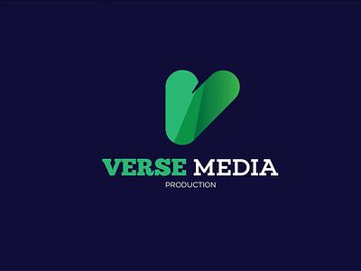 Verse Media icon design vector typography logo graphic design branding