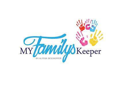 My Family Keeper illustration icon design vector typography logo graphic design branding