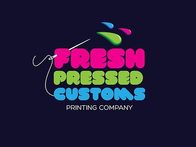 Freash Pressed Customs icon design vector logo typography graphic design branding