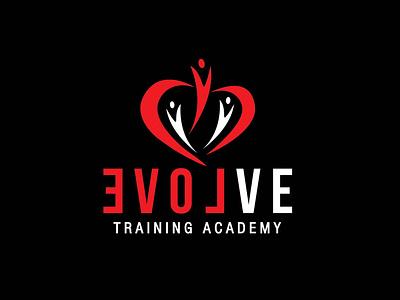 Evolve icon design vector typography logo graphic design branding