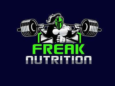 Freak Nutrition illustration icon design vector typography logo graphic design branding