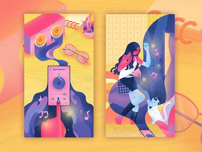 Just Dance ui graphic design design illustration